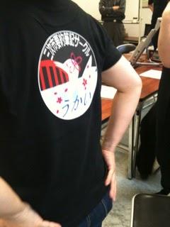 オリジナルTシャツの試着