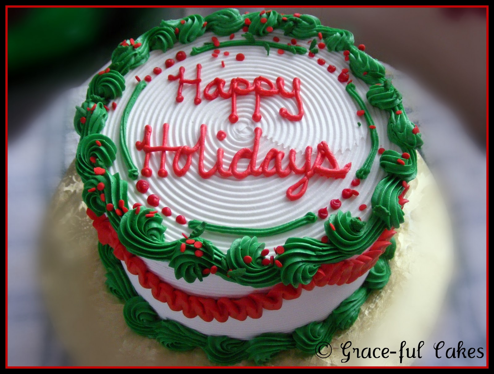 Design A Cake Christmas Opening Times : Christmas Cakes & Cupcakes Grace-ful Cakes