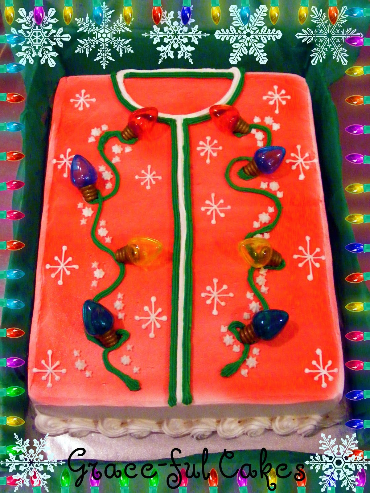 Little Pumpkin Ava & Ugly Christmas Sweater | Grace-ful Cakes