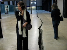"""Me at the Tate Modern with the famous """"crack"""""""
