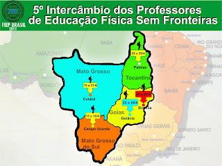 5º INTERCÂMBIO DOS PROFESSORES DE EDUCAÇÃO FÍSICA SEM FRONTEIRAS FIEP BRASIL 2011