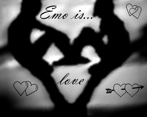 emo lovers background. emo lovers cartoons.