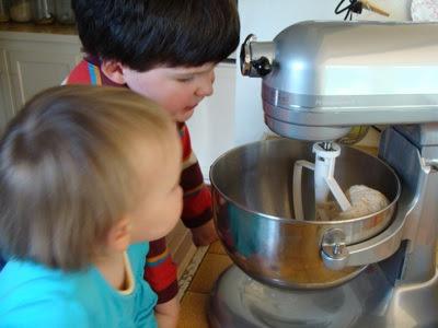 kids making soft pretzels