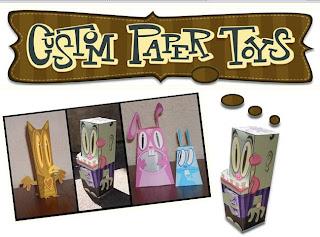 fare giocattoli con la carta, custom paper toys