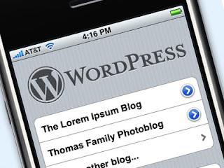 wordpress per iphone. Bloggare con il cellulare iphone apple