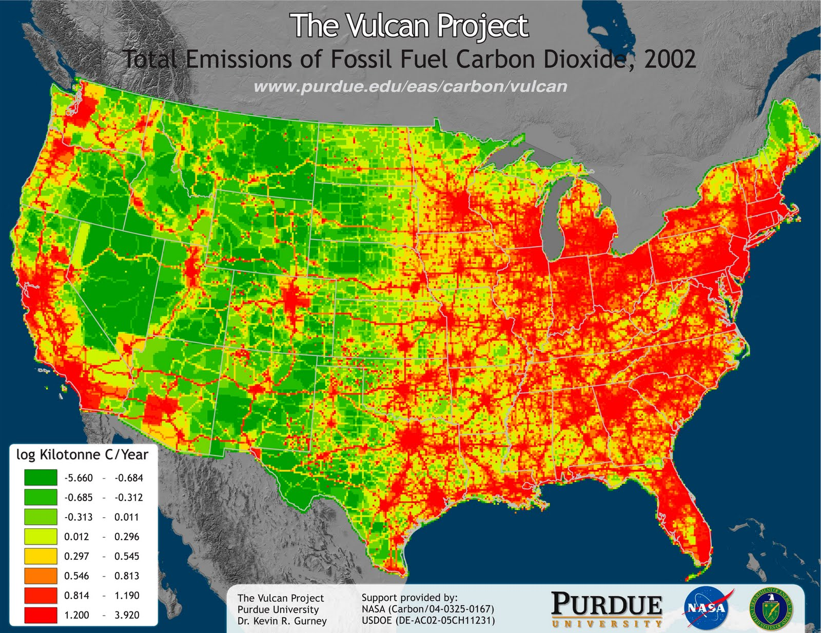 the vulcan project gis map