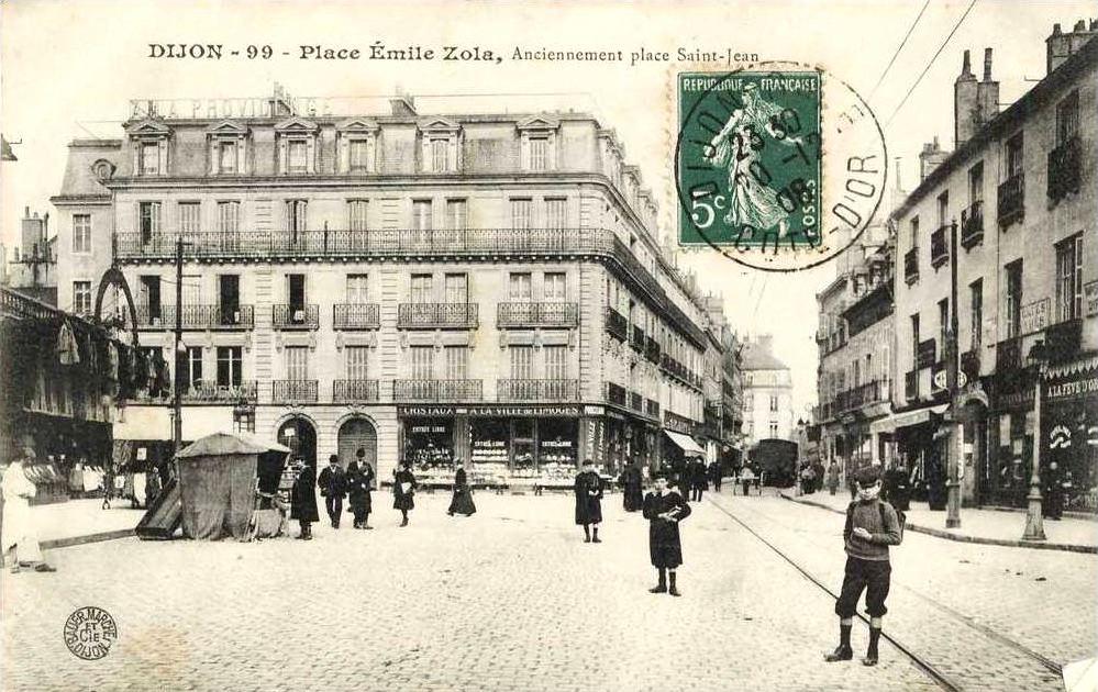 dijon en 1900 la place saint jean et la rue bossuet. Black Bedroom Furniture Sets. Home Design Ideas