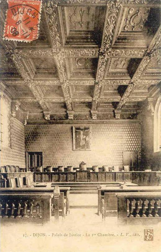 Dijon en 1900 le palais de justice for Chambre de justice