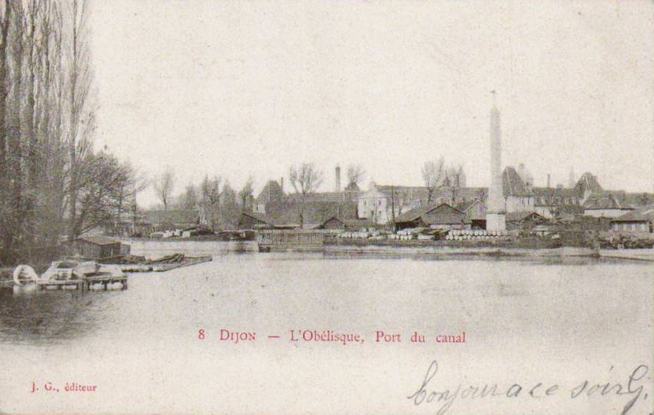 Dijon en 1900 le port du canal et sainte chantal - Intermarche port du canal dijon ...