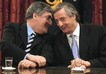 Kirchner y el gobernador de Chubut Das Neves