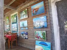a saturday porch art sale.