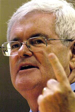 newt gives the finger to obama.