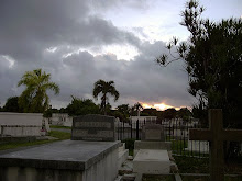 Sunrise in the cemetary.