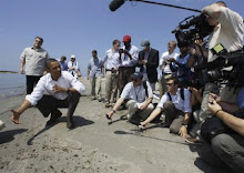 obama goes to the beach.