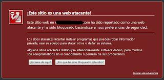 este sitio es una web atacante