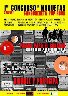 CONCURSO DE MAQUETAS Sangonereta Pop-Rock 2010/2011