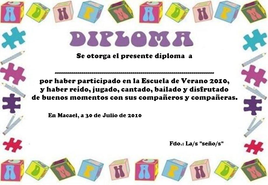 Diplomas De Agradecimiento