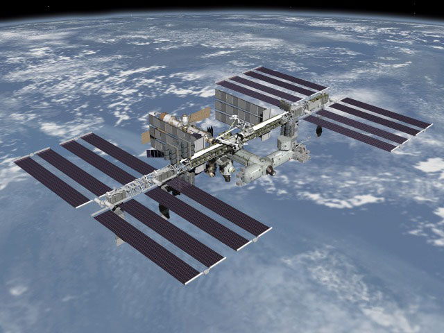space station diagram. International Space Station