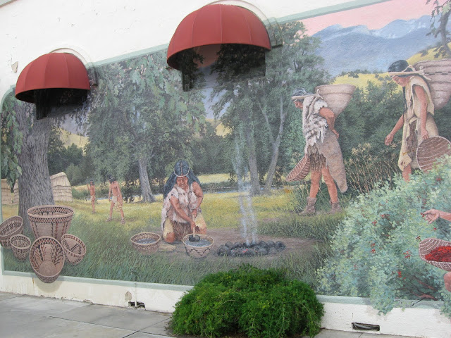 Basket Weaving Exeter : Desert canyon living the murals of exeter california