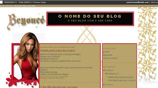 Template for Blogger - Tema para Blogger  Beyonce