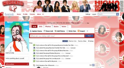 facebook skin layout - theme for facebook with  High School  Musical