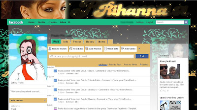 rihanna, facebook, skin, temas, themes, layout