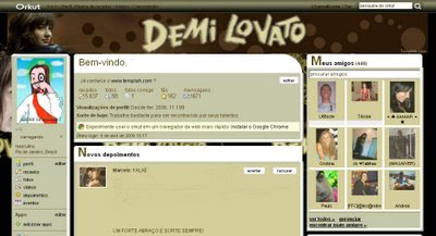 Tema skin para Orkut  demi lovato, orkut, skin, temas, themes, layout