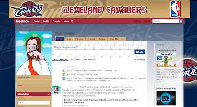 facebook skin layout - theme for facebook with NBA - Cleveland Cavaliers