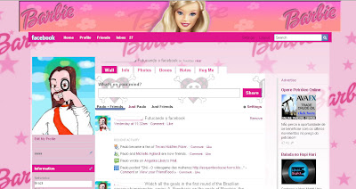 facebook skin layout - theme for facebook with Barbie