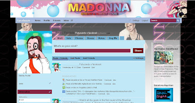 facebook skin layout - theme for facebook with Madonna