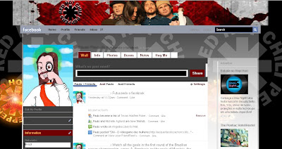 facebook skin layout - theme for facebook with Red Hot Chilli Peppers