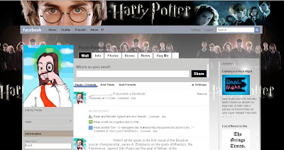 theme facebook layout harry potter