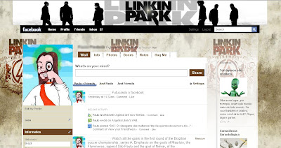 theme facebook layout linkin park