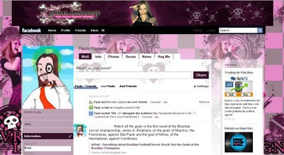 facebook layout skin template theme avril lavigne