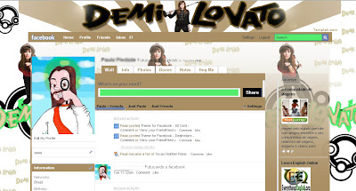 facebook layout skin template theme demi lovato