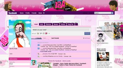 facebook skin layout - theme for facebook with Isa TKM