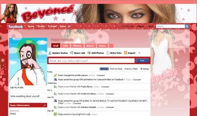 facebook skin layout - theme for facebook with Beyonce
