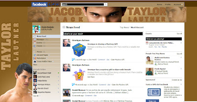 facebook skin layout - theme for facebook with Taylor Lautner