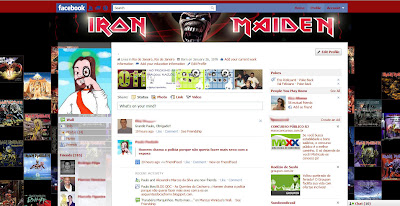facebook skin layout - theme for facebook with Iron Maiden