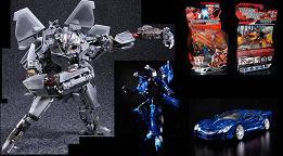 Transformers Masterpiece MP-M01 Starscream, Alternity A-04 Thundercracker & Takara Animated Rodimus