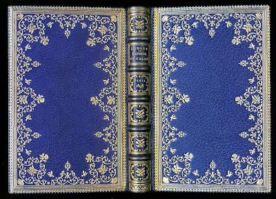 maroquin bleu de Lortic
