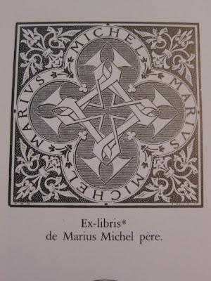 Ex-libris de Marius Michel, relieur