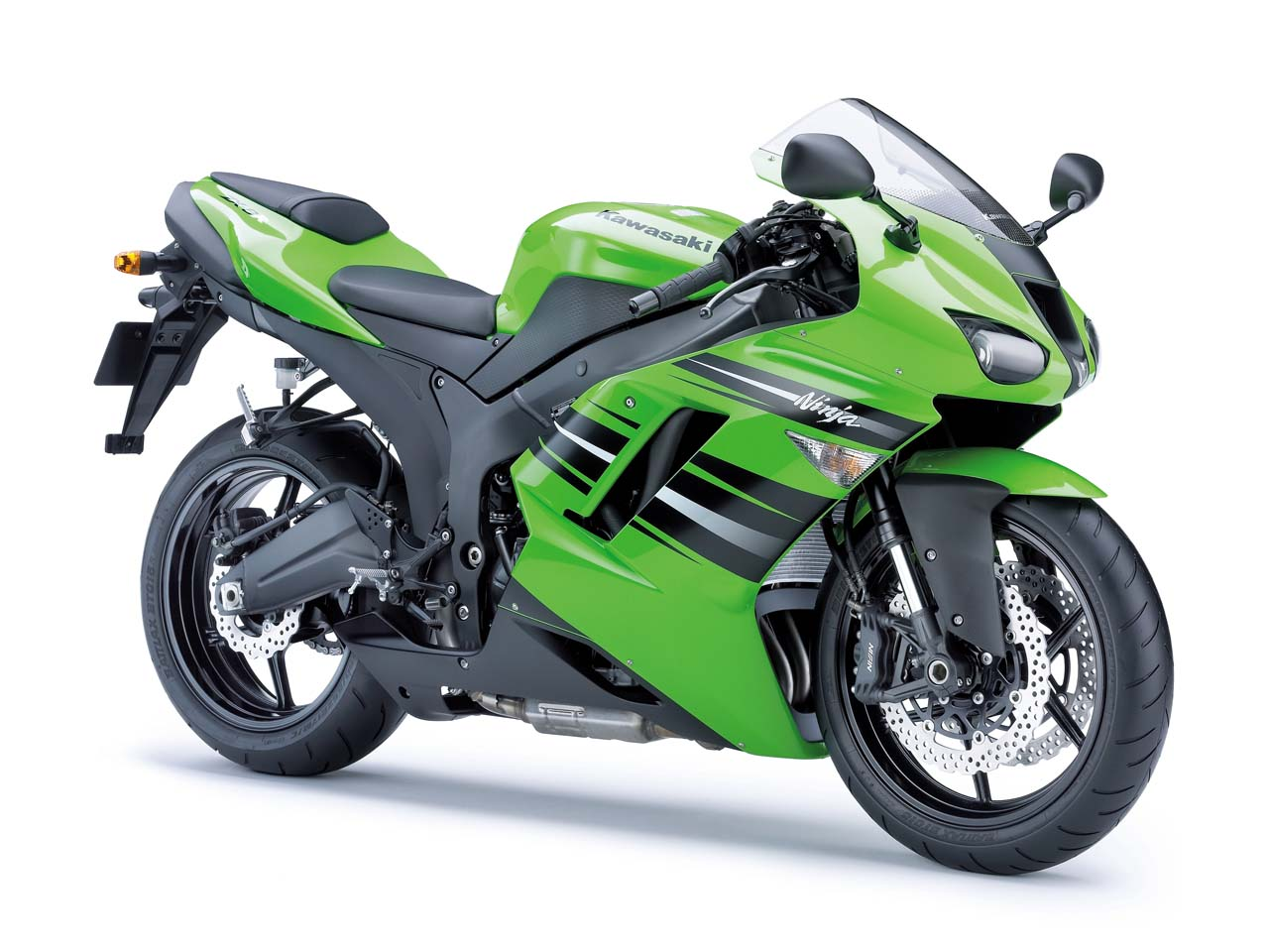 Kawasaki Ninja ZX-14 Candy Lime Green hyper sport bike