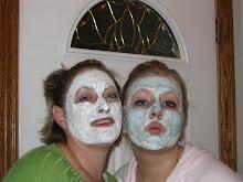 Mom and me doing facials!