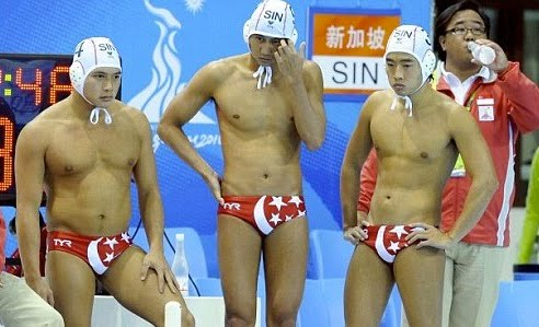 Singapore Water Polo Trunk Pictures on Singapore Polo Team S Trunks   Just South Of North  A Northwest Sports