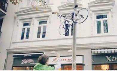 climbing bike lock