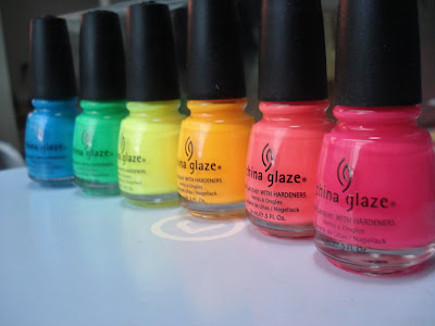 china glaze poolside collection bottles