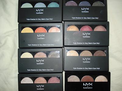 NYX trio shadows
