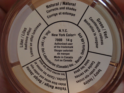 nyc concealer wheel colours