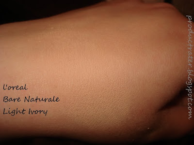 loreal bare naturale makeup